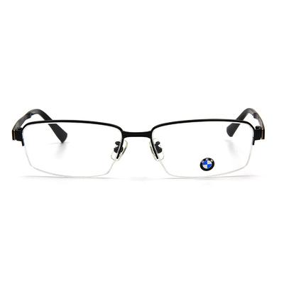 BMW 輕鈦光學眼鏡 復合蓋式 ▏霧黑/亮黑