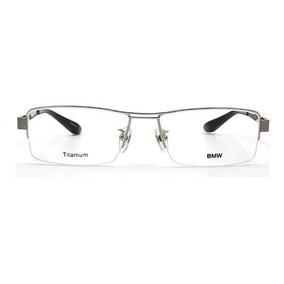 BMW 輕鈦光學眼鏡 薄邊銀磚 ▏銀/黑