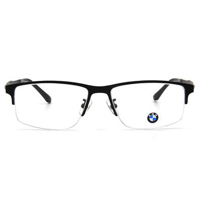 BMW 輕鈦光學眼鏡 工業點點 ▏霧黑/亮黑