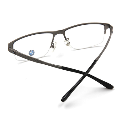 BMW 輕鈦光學眼鏡 工業點點 ▏霧銀/亮黑