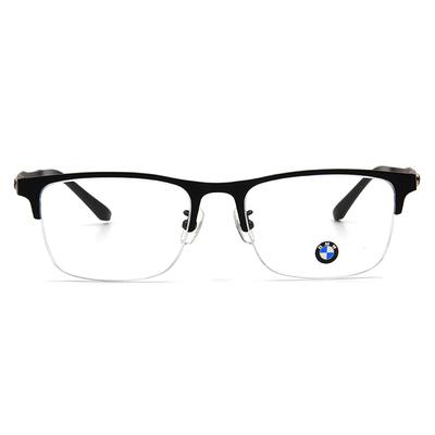 BMW 輕鈦光學眼鏡 漾點時尚 ▏霧黑/亮黑