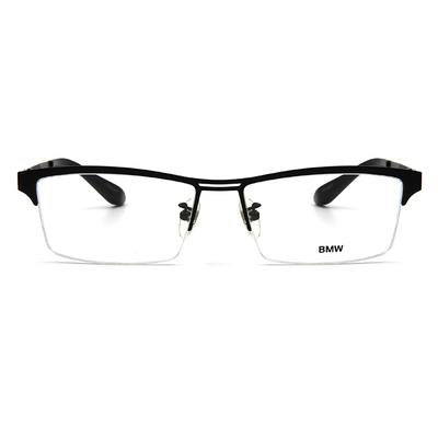 BMW 輕鈦光學眼鏡 鐵漢之心 ▏霧黑/亮黑