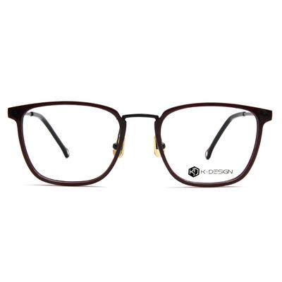 K-DESIGN K-POP系列 百搭潮方框眼鏡-巧克紅/黑