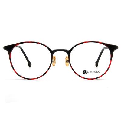 K-DESIGN K-POP系列 復古搖滾圓框眼鏡-金楓紅