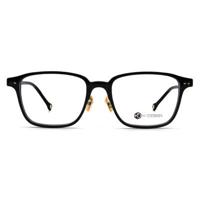 K-DESIGN K-POP款眼鏡 街頭大方框眼鏡-經典黑/金