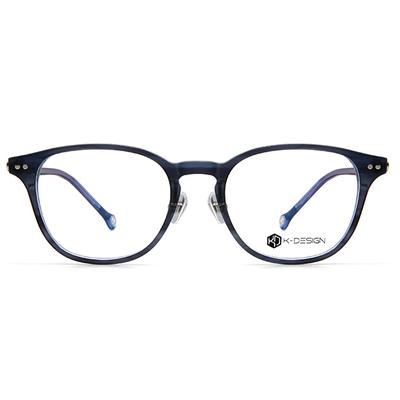 K-DESIGN K-POP系列 波士頓運動框眼鏡-沁透藍/銀