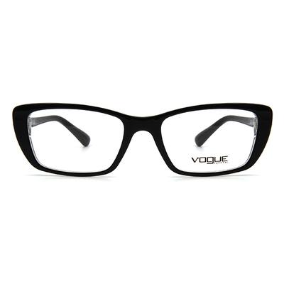 VOGUE 輕奢珠光魅眼框眼鏡 ▏透光黑
