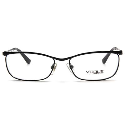 VOGUE 雅緻極簡圓弧眉框眼鏡 ▏亮黑
