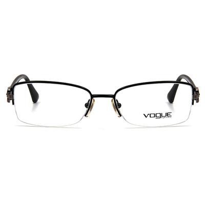 VOGUE 簡約鑽花眉框眼鏡 ▏亮黑
