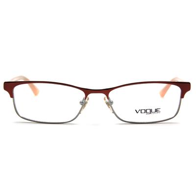 VOGUE 窈窕雙色眉框眼鏡 ▏玫瑰紅
