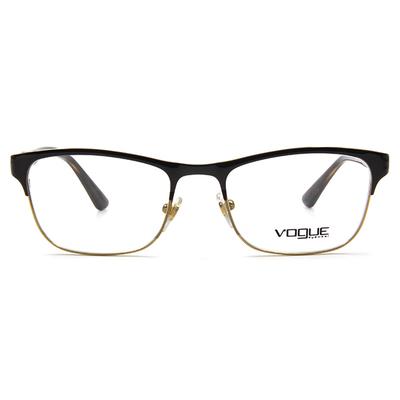 VOGUE 時尚幾何美學眉框眼鏡 ▏可可/玳瑁金