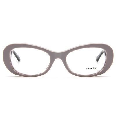 PRADA  經典時尚祥雲淑女框眼鏡 ▏淡粉灰