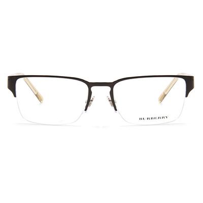 BURBERRY 中性雙質格紋框眼鏡 ▏亮棕/透灰