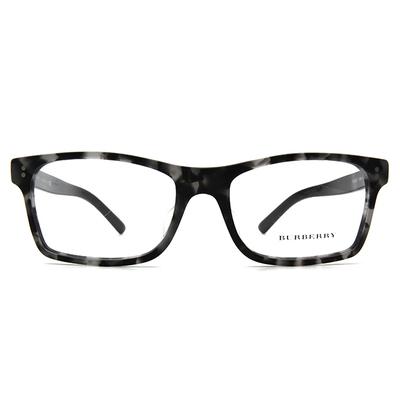 BURBERRY 經典威靈頓雙色框眼鏡 ▏迷彩黑