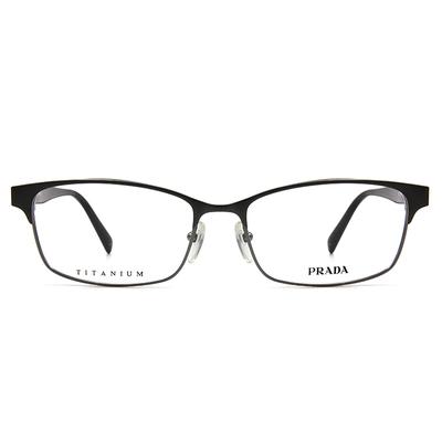 PRADA  流線質感極簡輕鈦商業款眼鏡 ▏削灰/黑