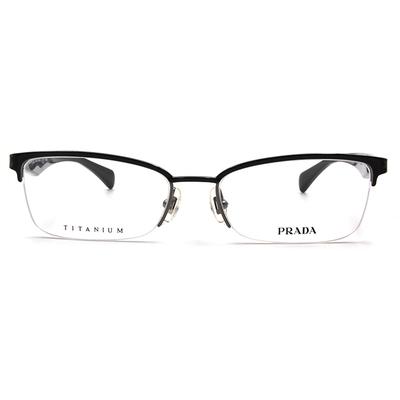 PRADA  傳奇三角輕鈦商業款眼鏡 ▏亮黑