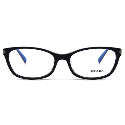 PRADA  尊貴雅致雙色框眼鏡 ▏亮黑/深藍
