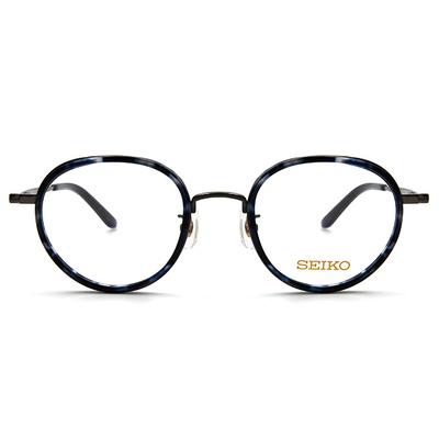 SEIKO 知性の鈦 小菱點刻印復古圓框眼鏡 ▏海洋槍