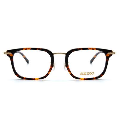SEIKO 知性の鈦 金屬菱鑽款眼鏡復古方框眼鏡 ▏琥珀金