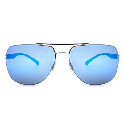 HORIEN 型男紳士款墨鏡方框墨鏡 │亮銀藍