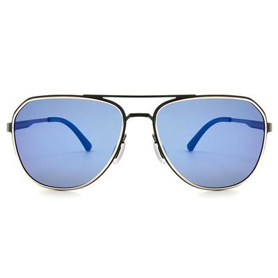 HORIEN 雙甲紳士飛官框墨鏡 │霧黑藍