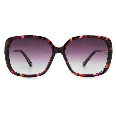 HORIEN 幾何雙槓時尚款墨鏡大方框墨鏡 │葡紫