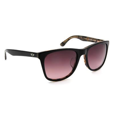 MINI 偏光太陽眼鏡 氣質雙色方框│亮黑/玳瑁棕