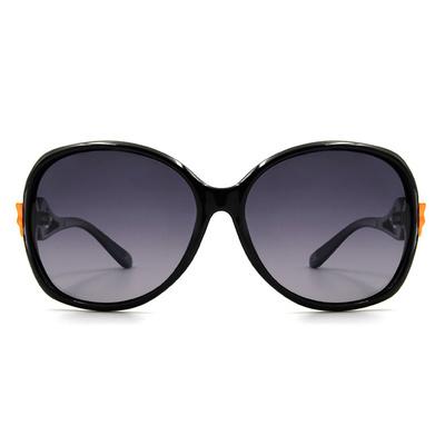 HORIEN 優雅與性感-蝴蝶結個性款墨鏡大橢圓框墨鏡 │橘漾黑
