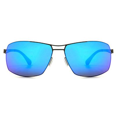 HORIEN 水銀輕薄款墨鏡紳士款墨鏡長方框墨鏡 │槍藍
