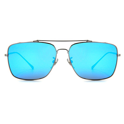 HORIEN 尊貴的品味飛官方框墨鏡 │銀藍