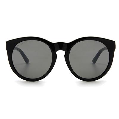 GUCCI 2018春夏新款墨鏡 雅痞私搭密鑲水晶微貓眼框墨鏡 ✦街頭黑