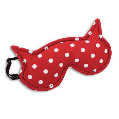 【德國萊思綺Leschi】舒緩疲勞熱敷/冷敷眼罩-貓女造型 (紅底白點)