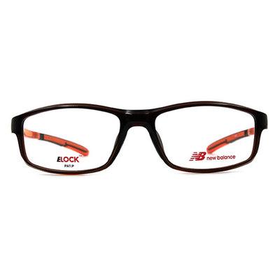 New Balance ELOCK 輕量舒適彈力長方框眼鏡✦懷舊咖/耀眼橘