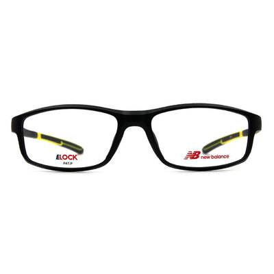 New Balance ELOCK 輕量舒適彈力長方框眼鏡✦英雄黑