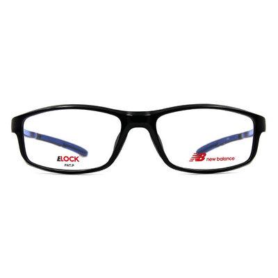 New Balance ELOCK 輕量舒適彈力長方框眼鏡✦科幻黑
