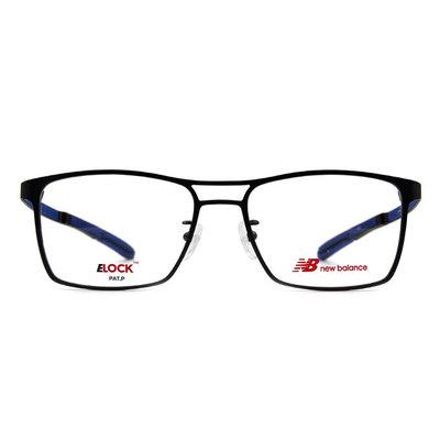 New Balance ELOCK 完美商學主義鋼質方框眼鏡✦黑鐵灰/銳藍