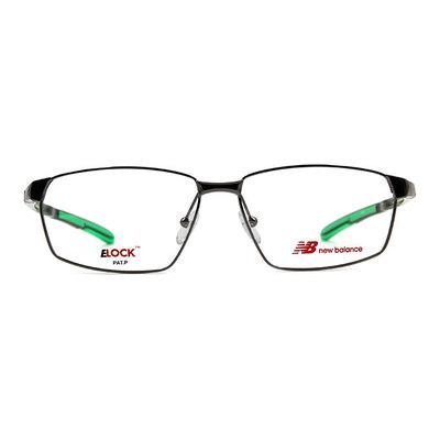 New Balance ELOCK 太空曲線彈力方框眼鏡✦科技銀/翡綠