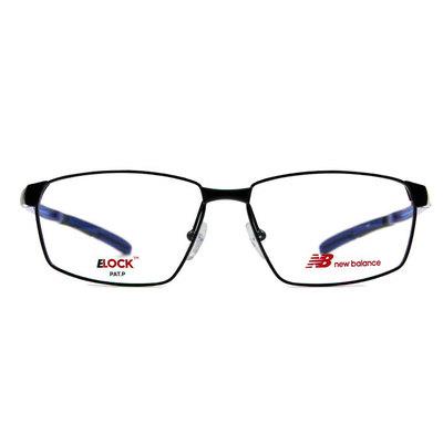 New Balance ELOCK 太空曲線彈力方框眼鏡✦亮黑/冰晶藍