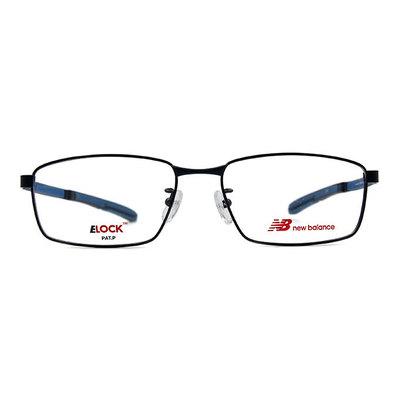 New Balance ELOCK 非凡眼界簡約長方框眼鏡✦動感眼鏡藍