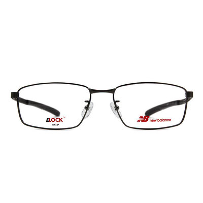 New Balance ELOCK 非凡眼界簡約長方框眼鏡✦鐵灰
