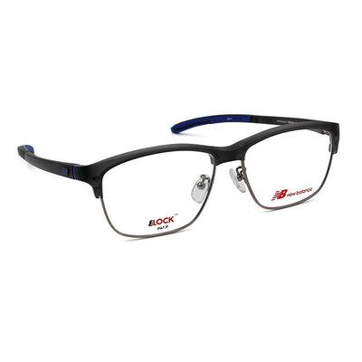 New Balance ELOCK 穿越現代眉粗框眼鏡✦玄鐵灰