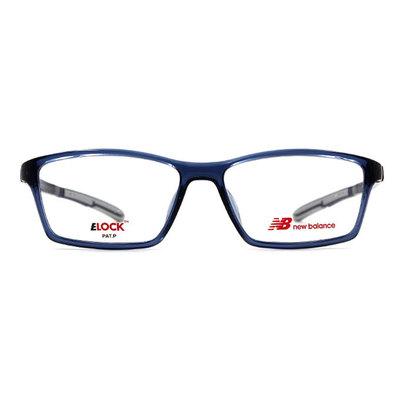 New Balance ELOCK 雅痞簡潮長方框眼鏡✦晶漾藍