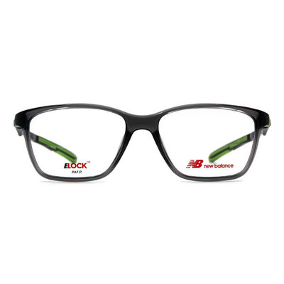 New Balance ELOCK 博雅質感方框眼鏡✦炭晶灰/果綠