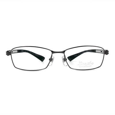 LineArt CHARMANT 藝術靈魂線條長方框眼鏡◆鐵灰