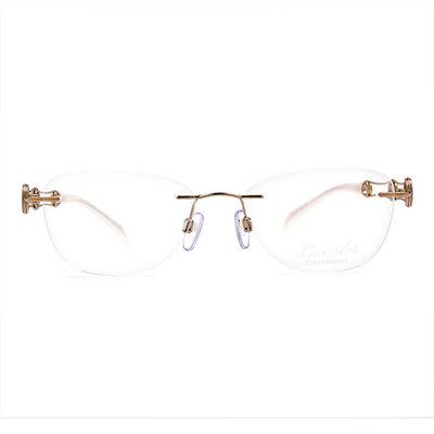 LineArt CHARMANT 波浪雙色圓環無框眼鏡款眼鏡◆典雅金