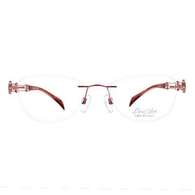 LineArt CHARMANT 波浪雙色圓環無框眼鏡款眼鏡◆瑩彩粉