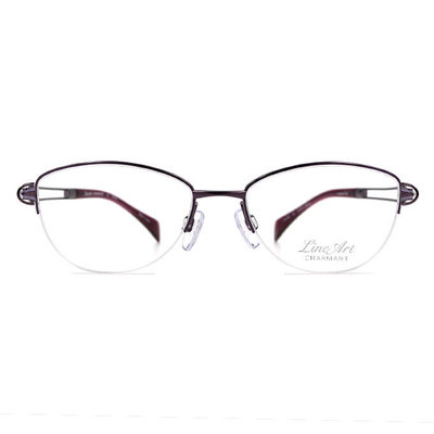 LineArt CHARMANT 氣質淑女簍空橢圓框眼鏡◆浪漫紫