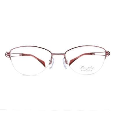 LineArt CHARMANT 氣質淑女簍空橢圓框眼鏡◆香檳粉