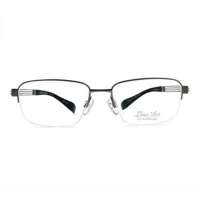 LineArt CHARMANT 網域線條俐落長方框眼鏡◆科技銀