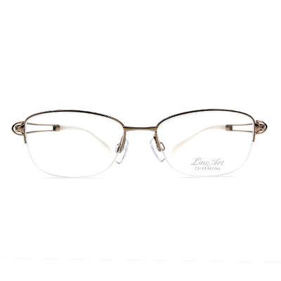 LineArt CHARMANT 女性の優雅造型眉半框眼鏡◆雪幕銀
